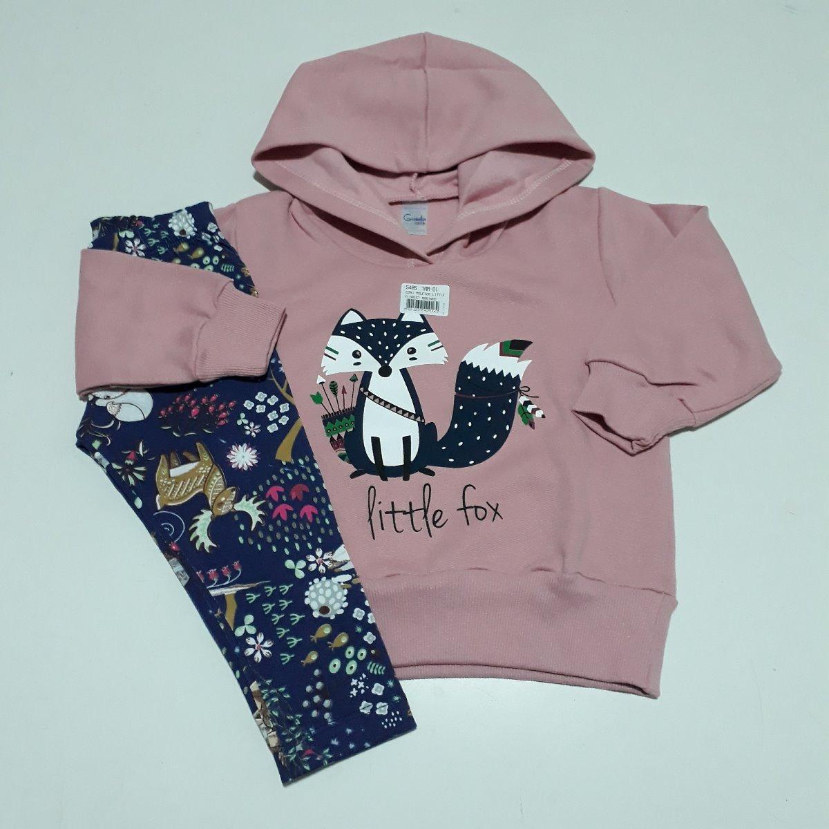 lote 2 conjunto infantil menina moletom calça e blusa compre. Carregando  zoom. 04fd06bac065c