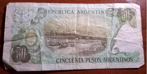 lote 2 (dos) billete 50 cincuenta pesos argentinos serie a