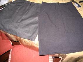 b077dc3334 Lote 2 Faldas Polleras Vestir Oficina Grises Invierno Media