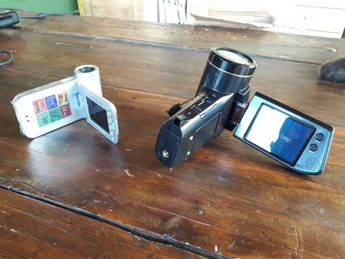 lote 2 filmadora câmeras tek pix
