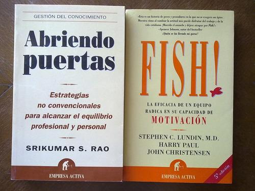 lote 2 libros empresa activa fish abriendo puertas srikumar
