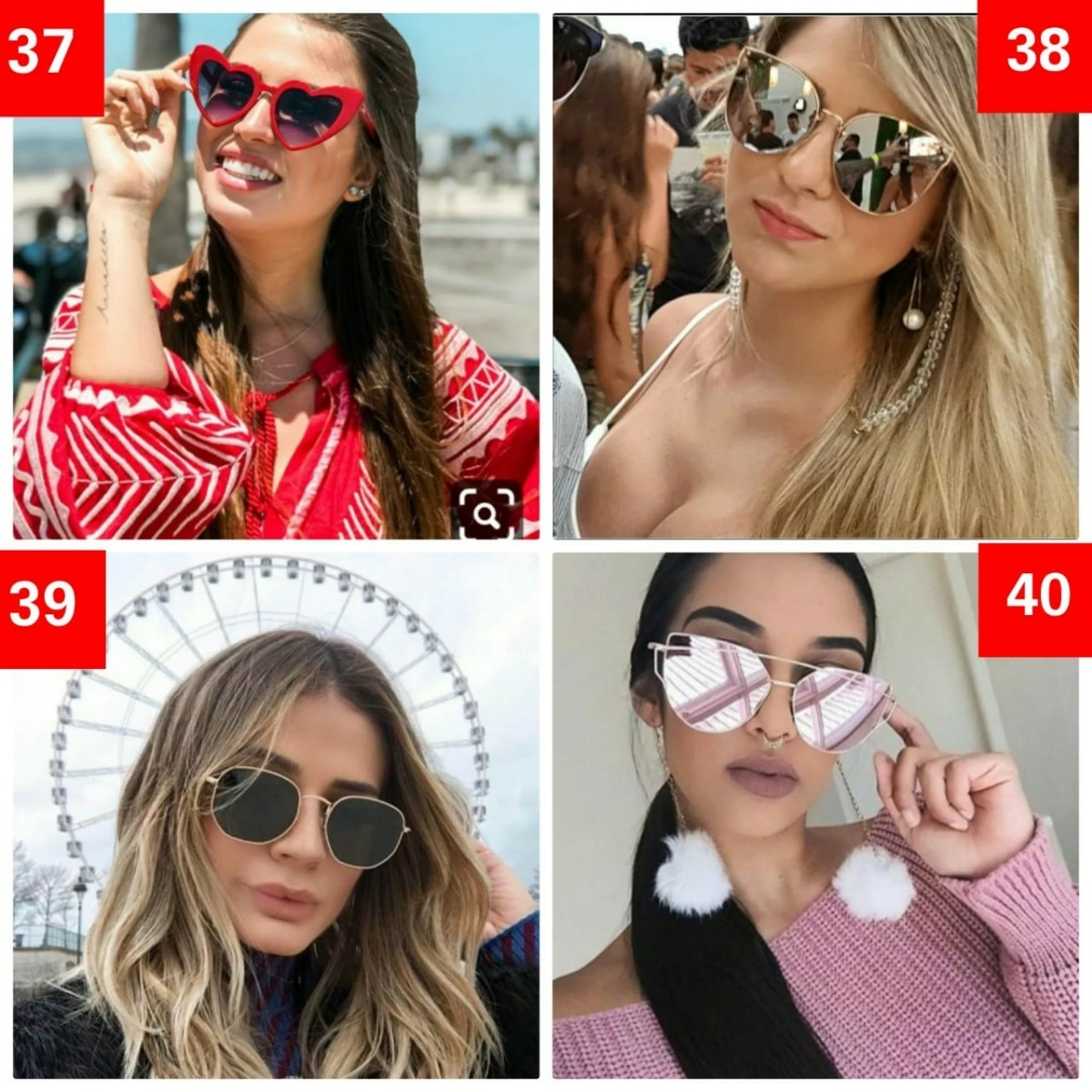 582e617e1 lote 2 óculos preço de fábrica social praia redondo quadrado. Carregando  zoom.