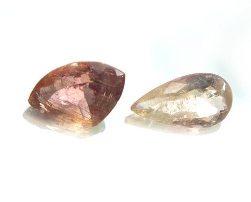 lote 2 pedra preciosa topázio imperial natural 6,5klt- p1442