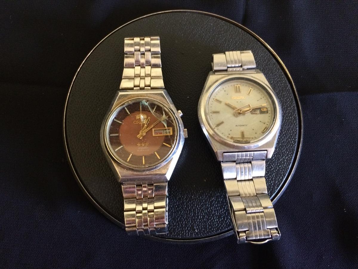 96f7d782483 lote 2 relógios masculino seiko e orient. Carregando zoom.