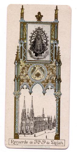 lote 2 tarjetas antiguas y especiales vírgen de luján olivos