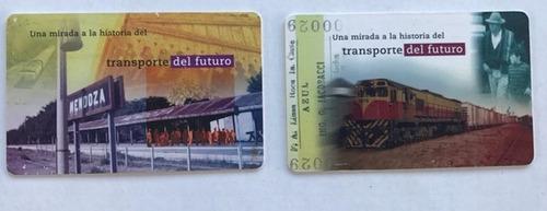 lote 2 tarjetas telefonica transporte del futuro