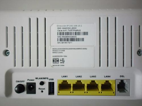 lote  20 modem linetec inalambrico  adsl2+  wifi