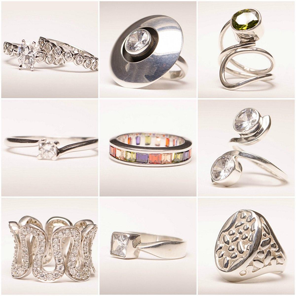 lote piezas de joyeria fina chapa oro y plata