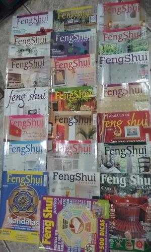 lote 21 revistas feng shui em casa + 1 feng shui prático