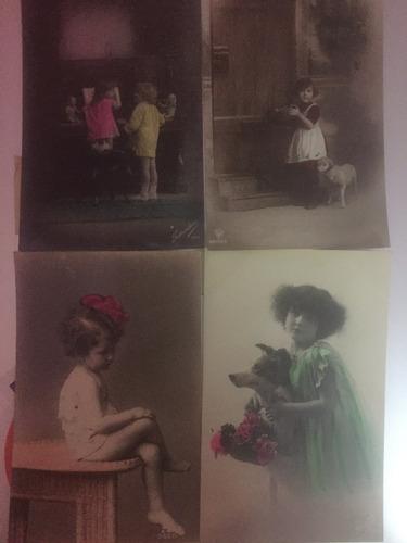 lote 21 tarjetas postales escritos tematica niños y bebes