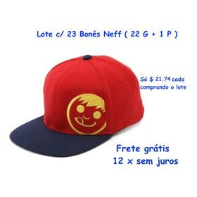 Lote 23 Bonés Neff Skateboards Aba Reta 22 G 60 Cm +1 Boné P