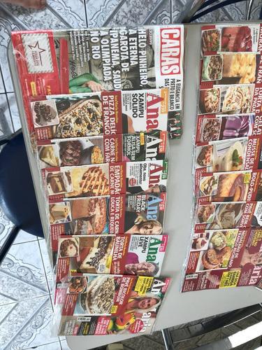 lote 23 revistas div ainda lacradas, ana maria, caras, malu