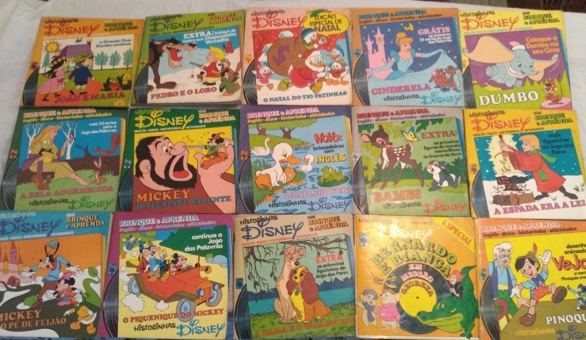 Lote 23 Vinil Compacto Ep Historinhas Disney Dumbo Bela R