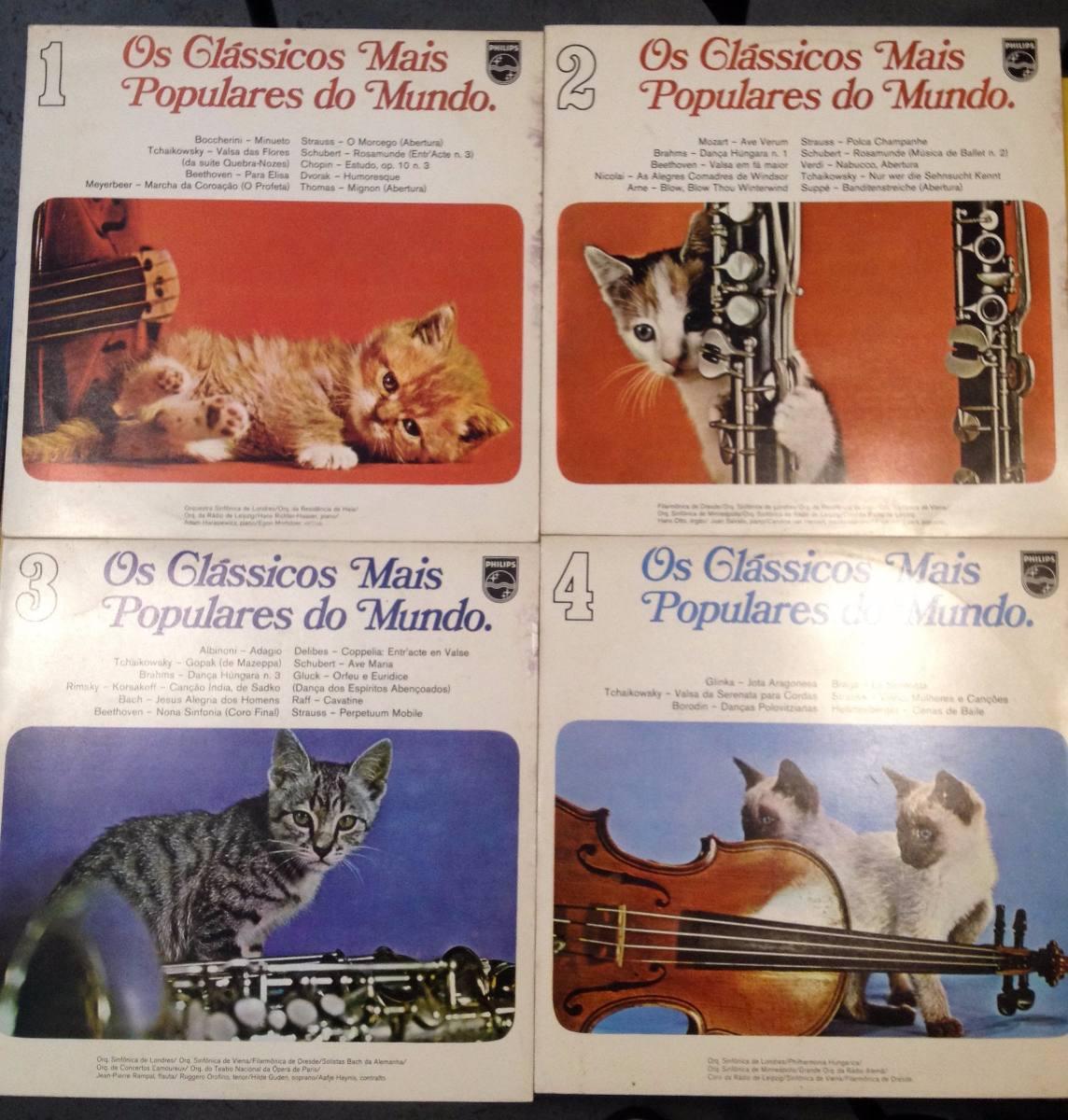 Lote 24 Lps Capas Gatos - Coleção Discos Erutido Clássicos