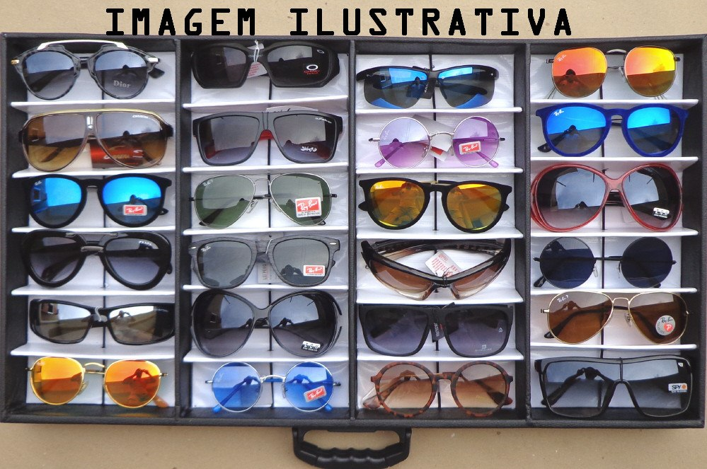 062e652c94220 lote 24 óculos revenda + expositor maleta caixa estojo porta. Carregando  zoom.