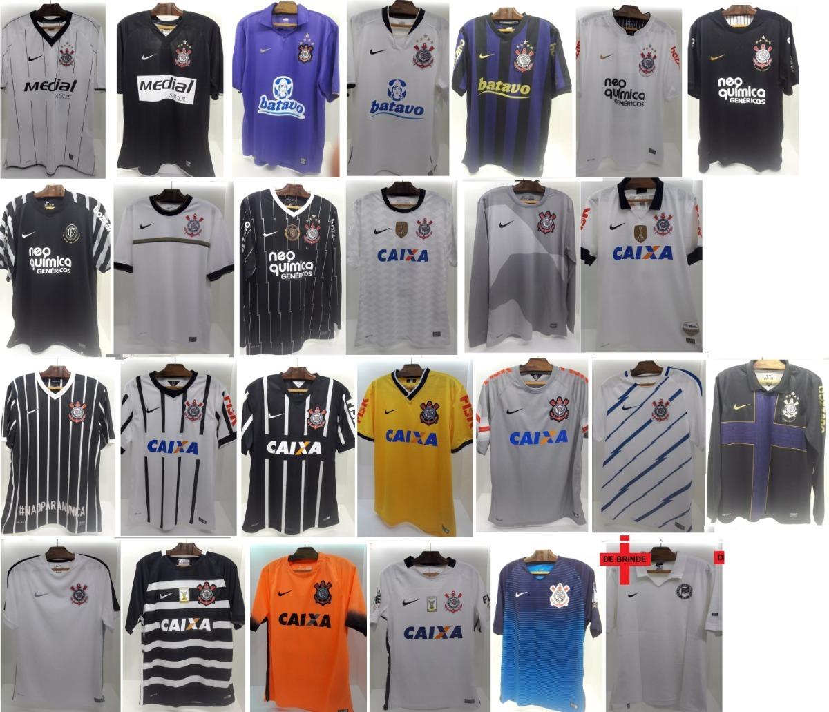 34648899a9 Lote 25 Camisas Nike Corinthians Oficial 2008a16 + 1 Camisa - R ...