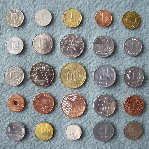 lote 25 monedas nuevas de 25 países distintos ¡sin circular!