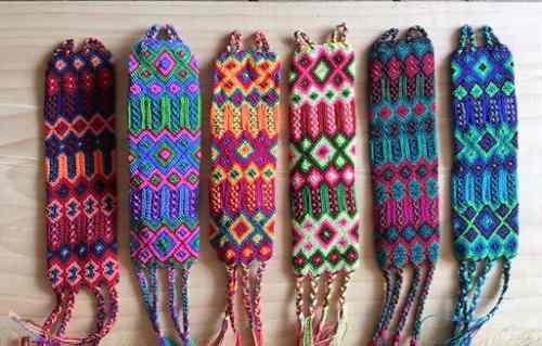 781ca08295ed Lote 25 Pulseras Grande Artesanales Mexicanas De Hilo Tejido ...