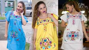 7ace52ca7 Vestidos Bordados Artesanales Lote en Mercado Libre México