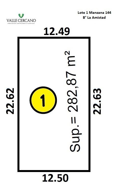 lote 282 m2 c/escritura en la zona mas consolidada!