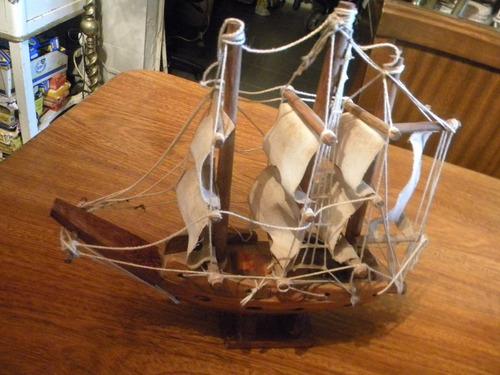 lote 3 barcos vikingo madera a escala a $4599 el lote !!