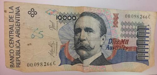 lote 3 billetes de 10000 australes