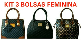 68845bfbf Bolsa De Couro 3 Divisões - Bagagem e Bolsas no Mercado Livre Brasil
