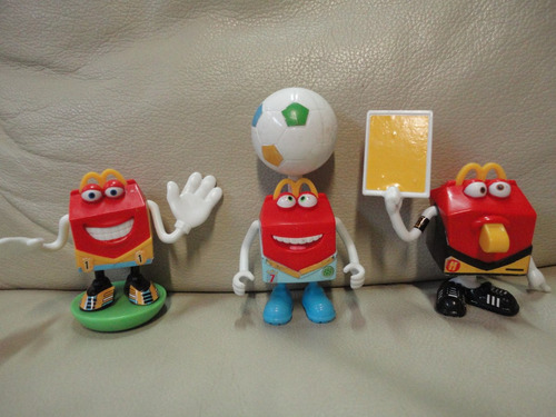 lote 3 brinquedos copa mundo brasil bola mc donalds brinde