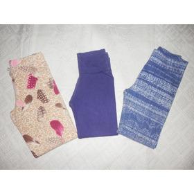 Lote 3 Calzas Abrigo-ropa Niña 3-4 Años