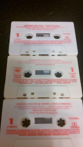 lote 3 cassettes michael bolton - impecables
