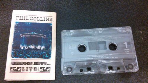 lote 3 cassettes phil collins - importados excelente estado