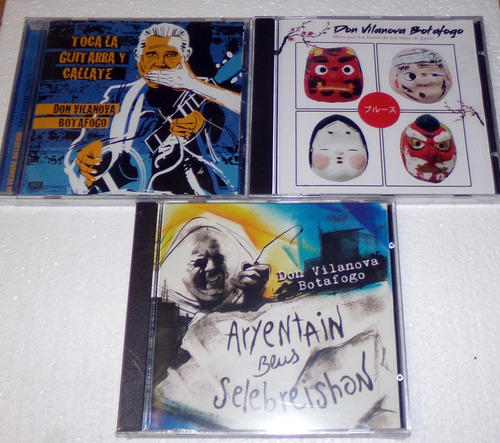 lote 3 cds don vilanova botafogo blues / kktus