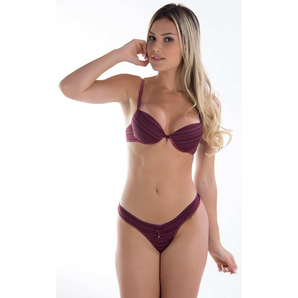 Lote 3 Conjunto Calcinha E Sutia Comum Moda Intima Feminina - R  65 ... ea09979f97d