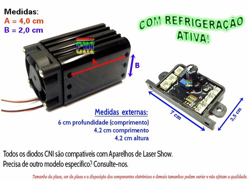 lote 3 diodos queimados laser show verde 150mw 200 led hdmi