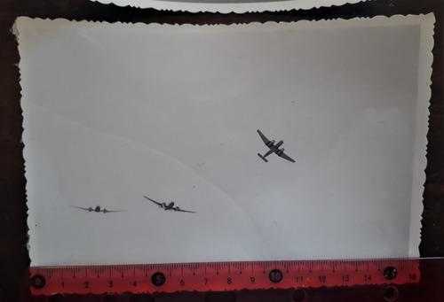 lote 3 fotos aviación aviones militaria fm ia35 huanquero