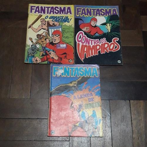 lote 3 gibis antigos fantasma 1981 e 1982