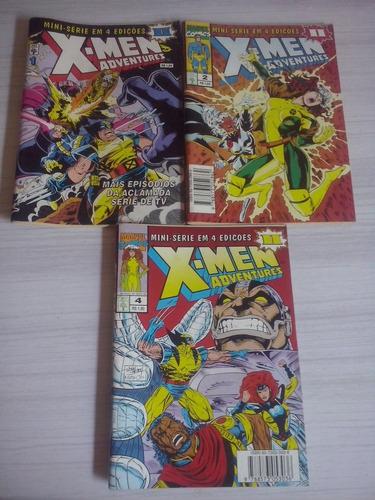 lote 3 gibis x-men adventures ll 1,2,4 ótimas !