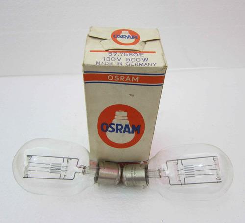 lote 3 lamparas bombillos proyector 110v 500w 57.7580e osram