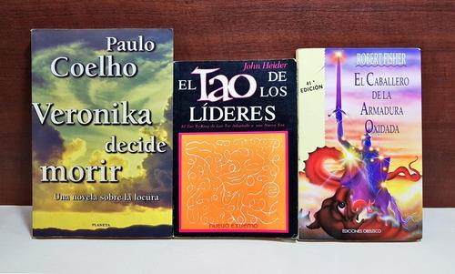 lote 3 libros coehlo tao autoayuda (3968)
