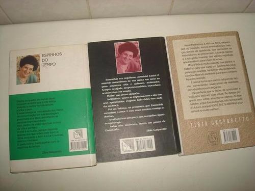 lote 3 livros espiritas - zibia gasparetto e marcelo cezar.