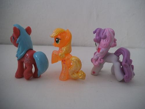 lote 3 mini ponys  mi pequeño pony hasbro
