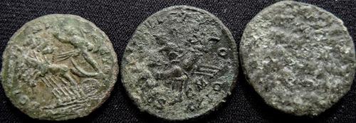 lote 3 moedas antigas império romano/antoninianus