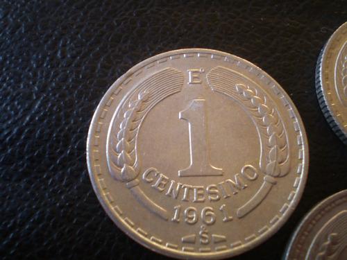 lote 3 monedas al casi sin circular   5 pesos 1956