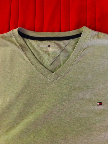 lote 3 playeras polo ralph lauren y tommy hilfiger, guess l