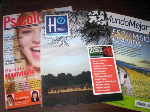 lote 3 revistas _ psicologia + / un mundo mejor / holos