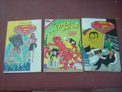 lote 3 revistas/ superman/ super raton - editora 5 colombia