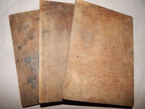 lote 3 tablitas madera cocina