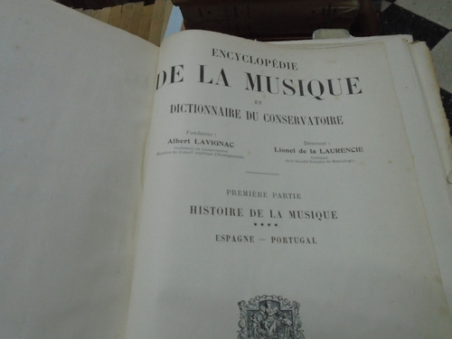 lote 3 tomos encyclopedie de la musique de albert lavignac