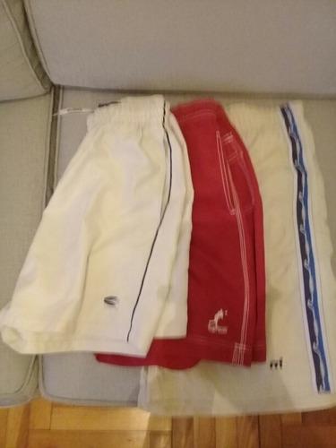 lote 3 trajes de baño short bermuda mistral kevingston otros