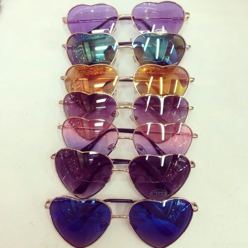 lote 3 unid óculos coração lolita bruna marquezine atacad